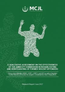 Book Cover: A Qualitative Assessment on the Effectiveness of the Amnesty Commission in Rehabilitating and Reintegrating of Former Violent Offenders